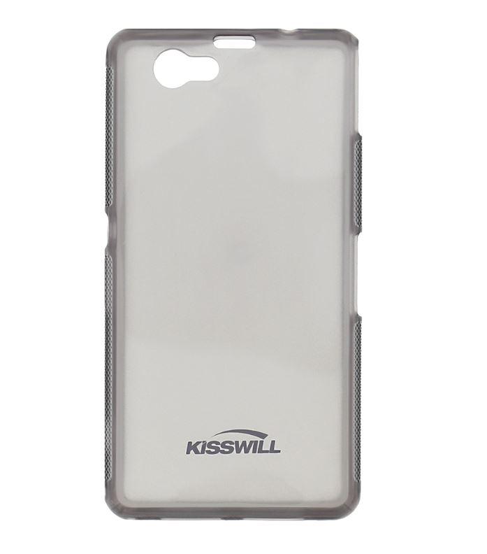 Silikonové pouzdro Kisswill pro mobilní telefon Sony Xperia Z1 Compact Tmavé (Silikonový kryt či obal na mobil Sony Xperia Z1 Compact)