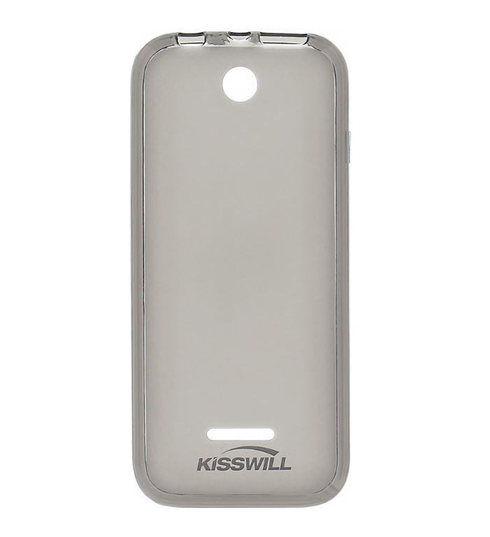 Silikonové pouzdro Kisswill pro mobilní telefon Nokia 225 Tmavé (Silikonový kryt či obal na mobil Nokia 225)
