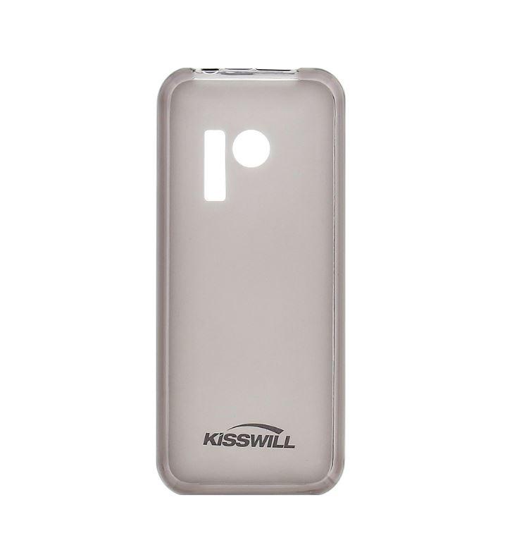 Silikonové pouzdro Kisswill pro mobilní telefon Nokia 230 Tmavé (Silikonový kryt či obal na mobil Nokia 230)