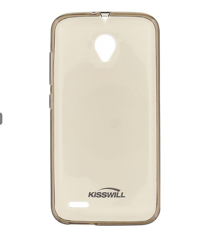 Silikonové pouzdro Kisswill pro mobilní telefon Vodafone Smart Prime 6 Tmavé (Silikonový kryt či obal na mobil Vodafone Smart Prime 6)