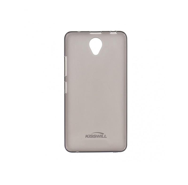 Silikonové pouzdro Kisswill pro mobilní telefon Vodafone Smart Turbo 7 Tmavé (Silikonový kryt či obal na mobil Vodafone Smart Turbo 7)