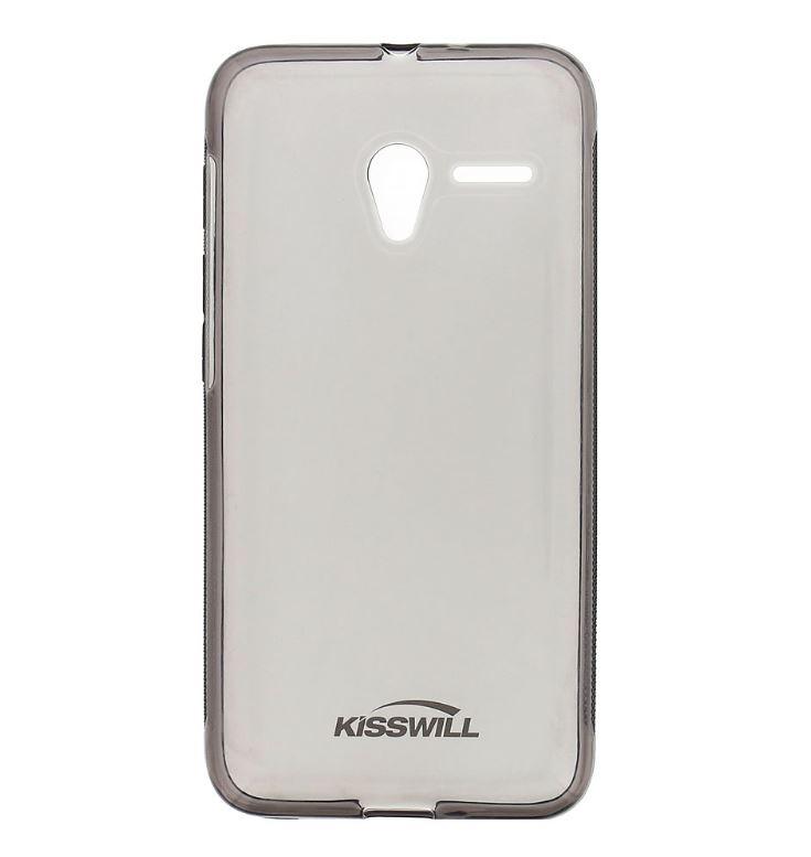Silikonové pouzdro Kisswill pro mobilní telefon Vodafone Smart Speed 6 Tmavé (Silikonový kryt či obal na mobil Vodafone Speed 6)
