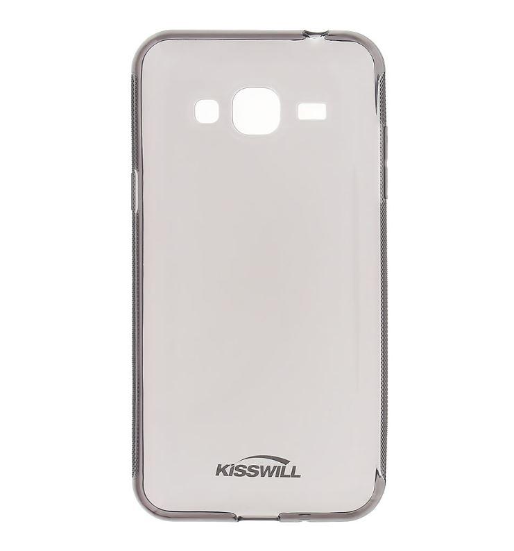 Silikonové pouzdro pro mobilní telefon Samsung Galaxy J3 2016 Tmavé (Silikonový kryt či obal na mobil Samsung Galaxy J3 2016)