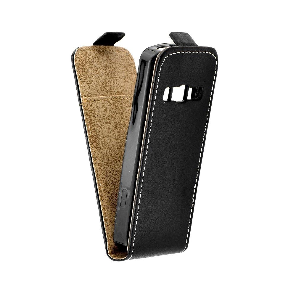 Vertikální flipové pouzdro FLEXI FRESH pro Samsung S5610 / S5611 Černé (Flipové vertikální vyklápěcí pouzdro na mobilní telefon Samsung Galaxy S5610 / S5611)