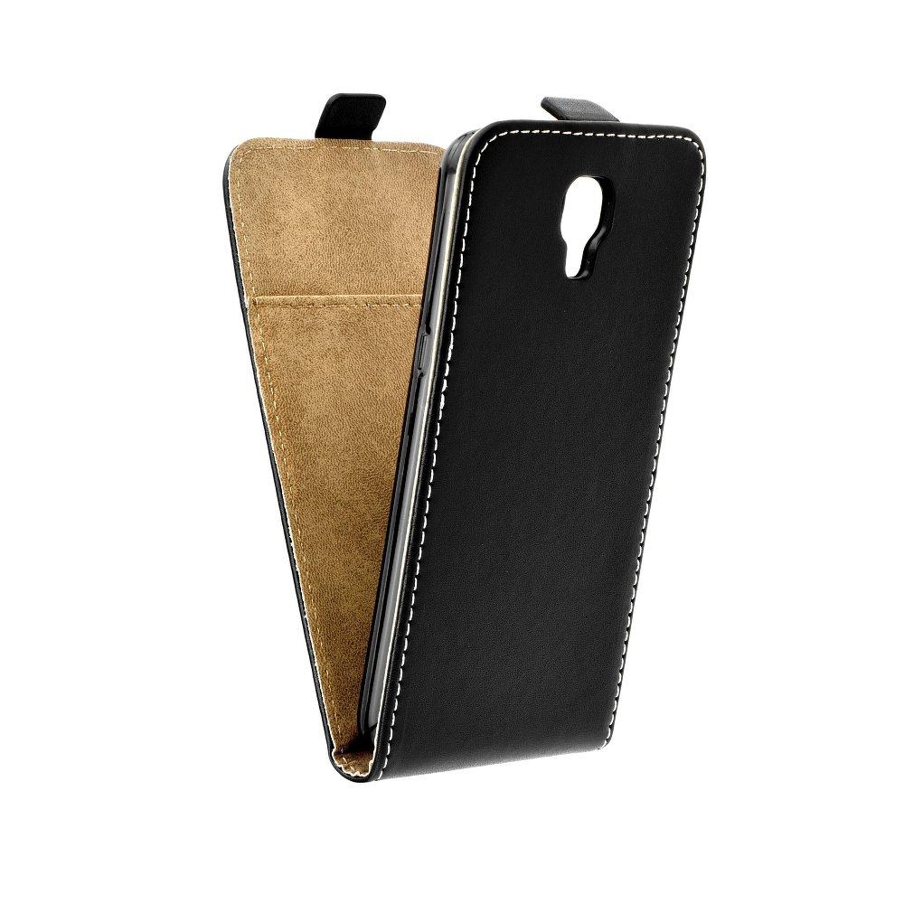Vertikální flipové pouzdro FLEXI FRESH pro LG X SCREEN Černé (Flipové vertikální vyklápěcí pouzdro na mobilní telefon LG X SCREEN)