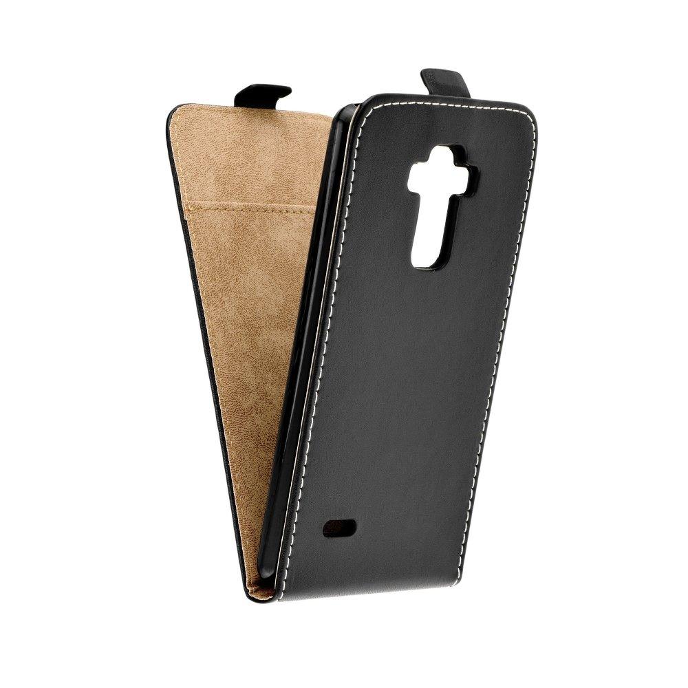 Vertikální flipové pouzdro FLEXI FRESH pro LG G4 STYLUS Černé (Flipové vertikální vyklápěcí pouzdro na mobilní telefon LG G4 STYLUS)