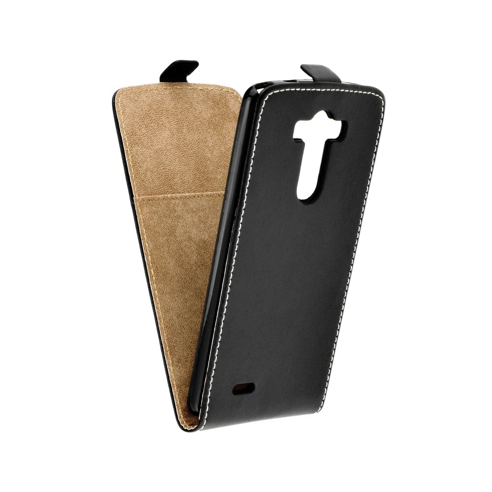 Vertikální flipové pouzdro FLEXI FRESH pro LG G3 Černé (Flipové vertikální vyklápěcí pouzdro na mobilní telefon LG G3)