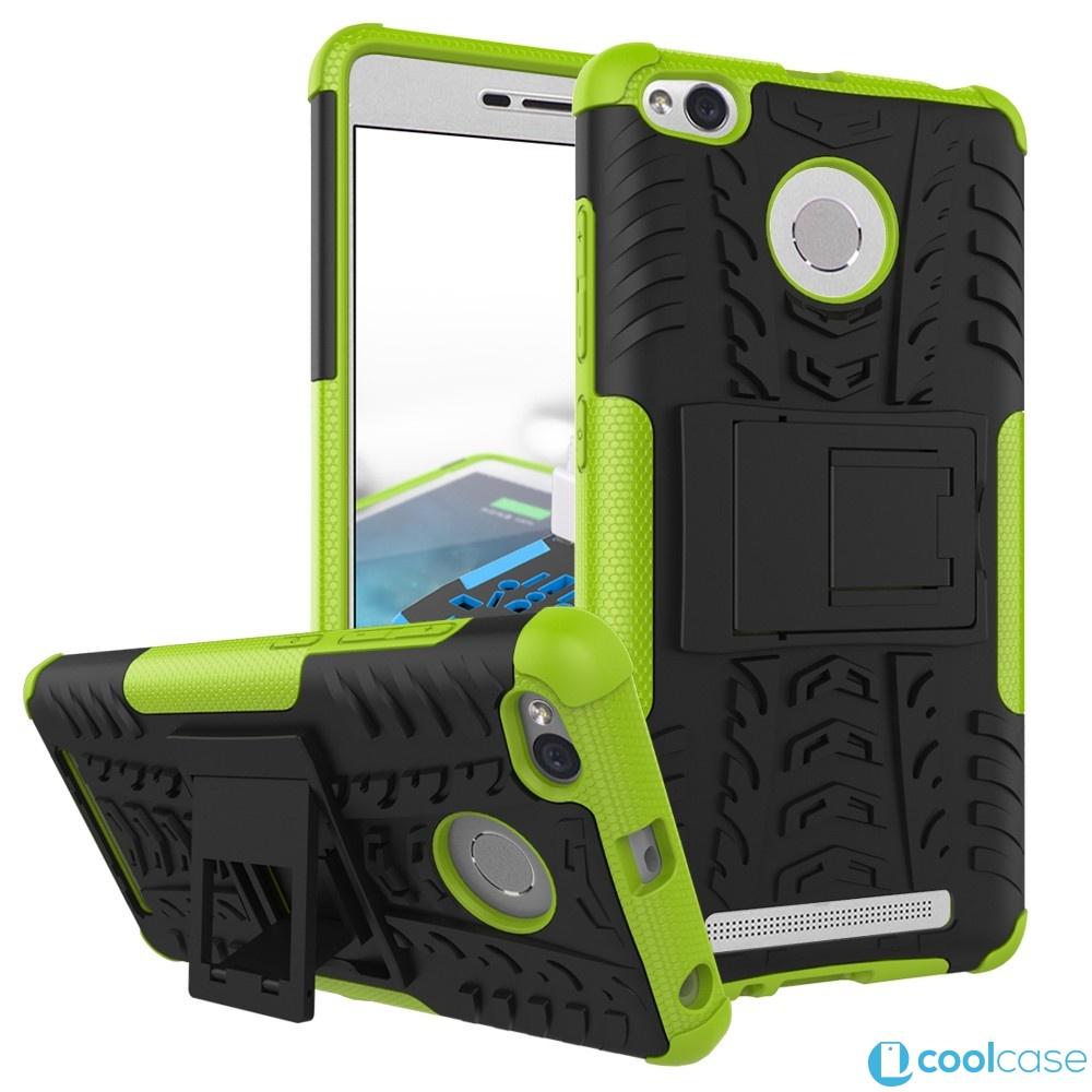 Odolné pouzdro PANZER CASE NEO na mobil Xiaomi Redmi 3 , 3S, 3 Pro Zelené (Odolný kryt či obal na mobil Xiaomi Redmi 3 , 3S, 3 Pro se stojánkem)