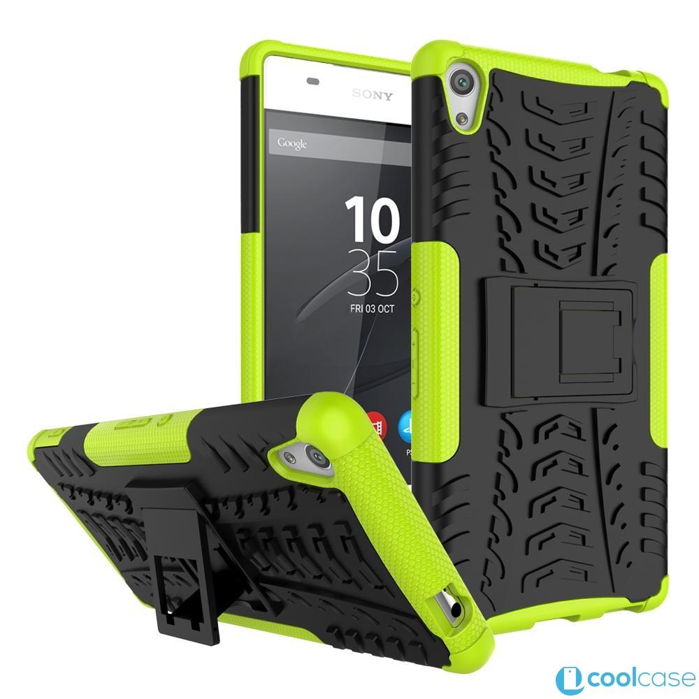 Odolné pouzdro PANZER CASE NEO na mobilní telefon Sony Xperia XA Ultra Zelené (Odolný kryt či obal na mobil Sony Xperia XA Ultra se stojánkem)