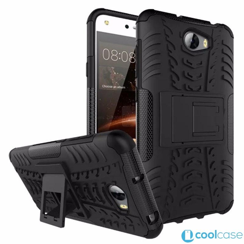 Odolné pouzdro PANZER CASE NEO na mobil Huawei Y5 II / Y6 II Compact Černé (Odolný kryt či obal na mobil Huawei Y5 II se stojánkem)