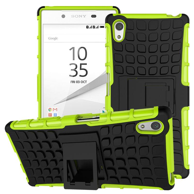 Odolné pouzdro PANZER CASE na mobilní telefon Sony Xperia Z3+ (plus) Zelené (Odolný kryt či obal na mobil Sony Xperia Z3+ (plus) / Z4 se stojánkem)