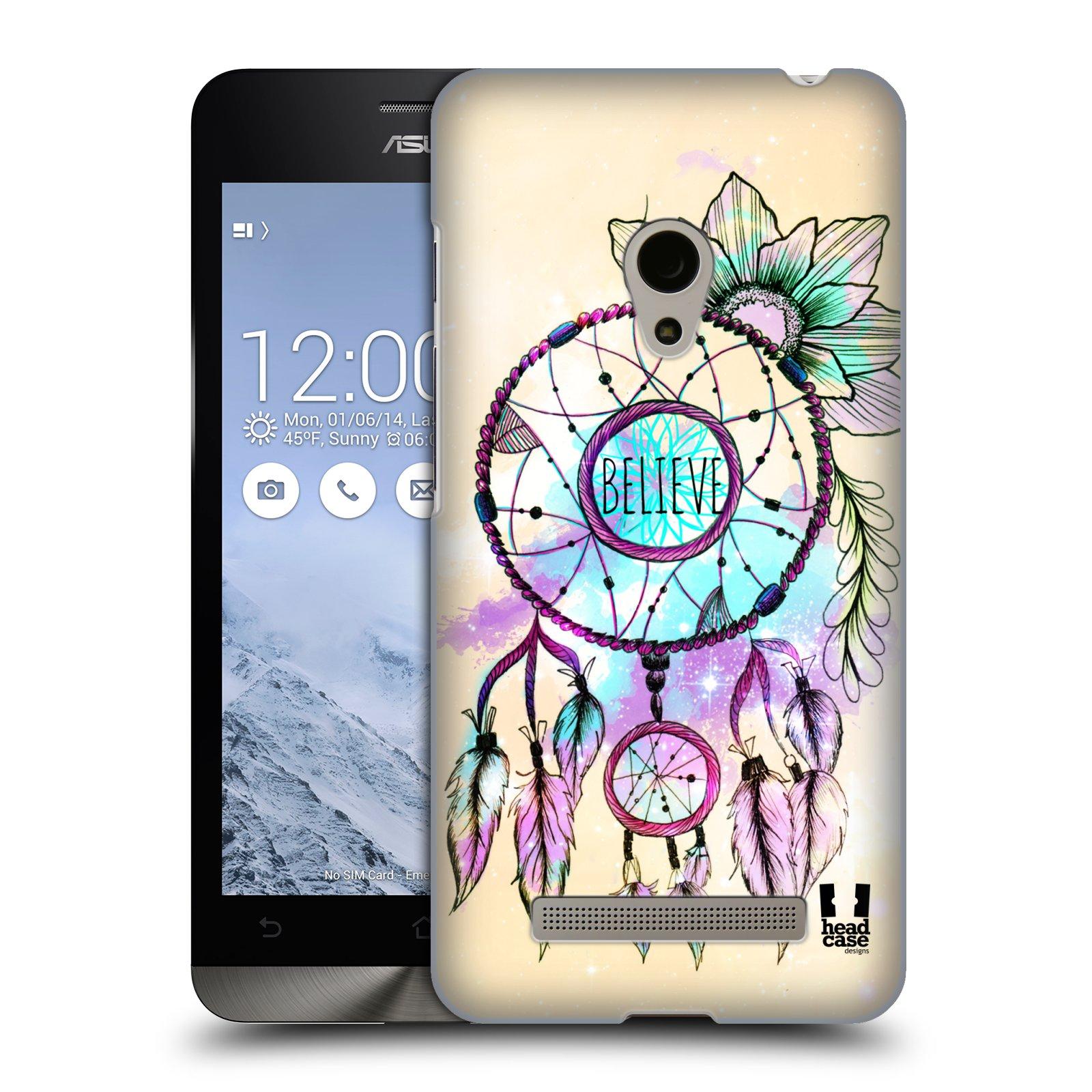 Plastové pouzdro na mobil Asus Zenfone 5 HEAD CASE MIX BELIEVE (Kryt či obal na mobilní telefon Asus Zenfone 5 A500CG / A501CG)