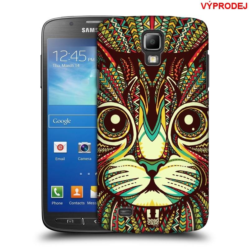 Plastové pouzdro na mobil Samsung Galaxy S4 Active HEAD CASE AZTEC KOČKA (Kryt či obal na mobilní telefon Samsung Galaxy S4 Active GT-i9295)