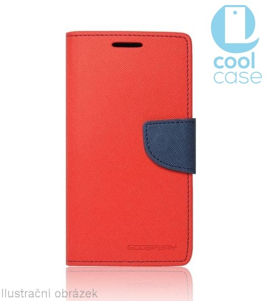 Flipové pouzdro na mobil FANCY BOOK Asus Zenfone 3 ZE520KL ČERVENÉ (Flipové knížkové vyklápěcí pouzdro na mobilní telefon Asus Zenfone 3 ZE520KL)