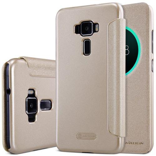 Flipové pouzdro na mobil Nillkin Sparkle S-View Asus Zenfone 3 ZE520KL Zlatavé (Flip vyklápěcí kryt či obal na mobil Asus Zenfone 3 ZE520KL)