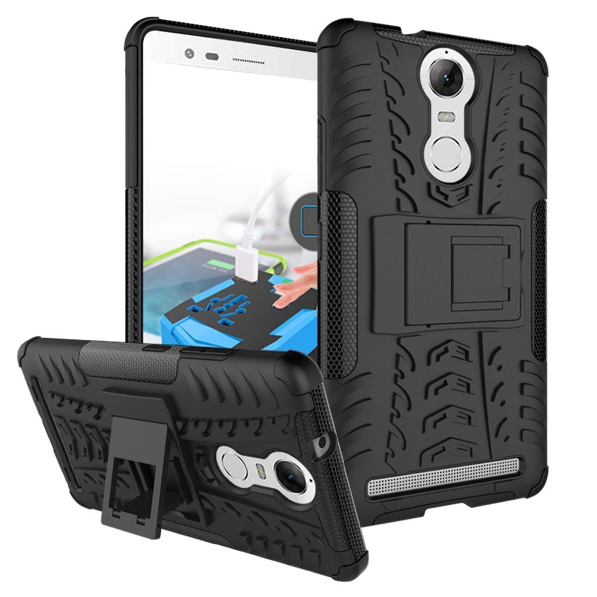 Odolné pouzdro PANZER CASE NEO na mobil Lenovo Vibe K5 Note Černé (Odolný kryt či obal na mobil Lenovo Vibe K5 NOTE se stojánkem)