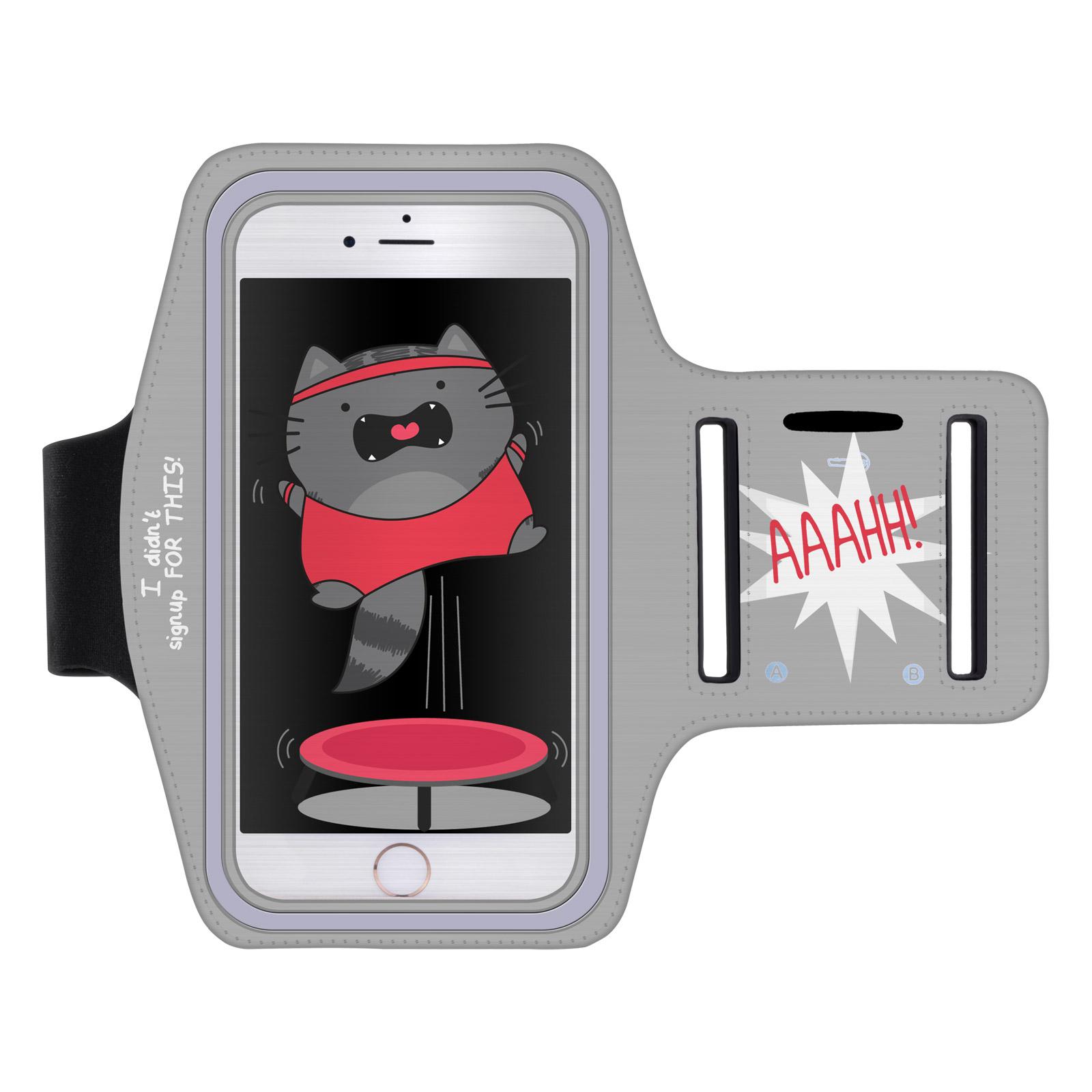 """Sportovní pouzdro TRAMPOLÍNA WILLBUR pro mobily do 5,1"""" S7 / iPhone 6 šedé (Pouzdro na běhání pro mobilní telefony do 5,1 palců)"""