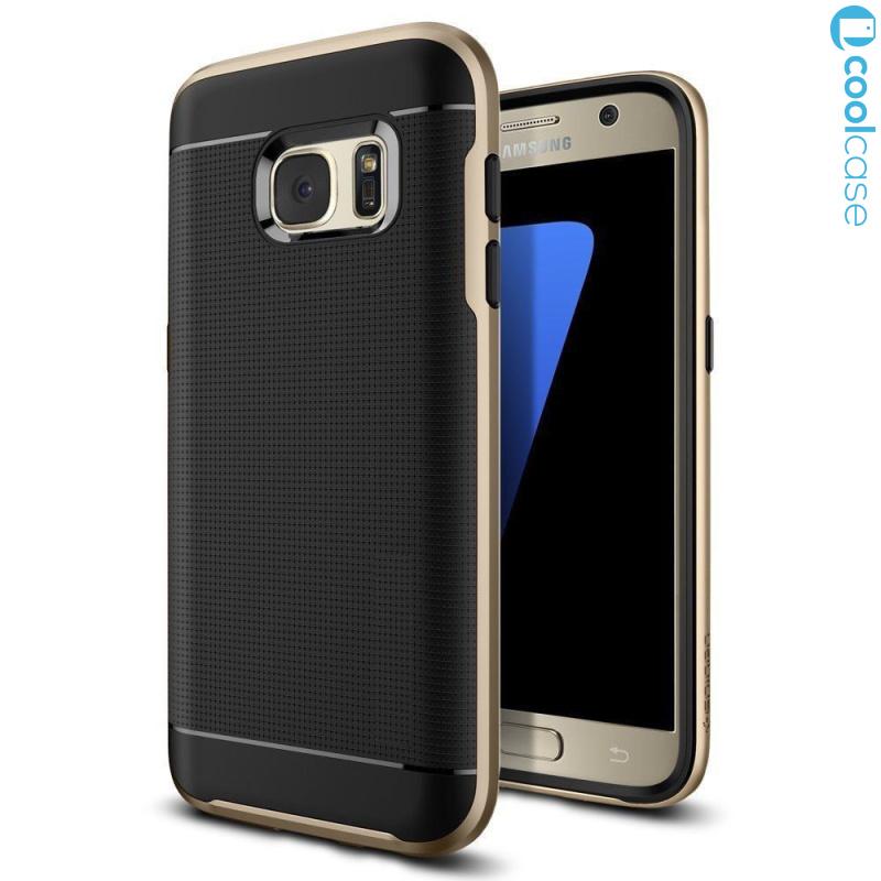 Odolné pouzdro NEW HYBRID CASE na mobilní telefon Samsung Galaxy S6 EDGE Gold (Odolný kryt či obal na mobil Samsung Galaxy S6 EDGE)