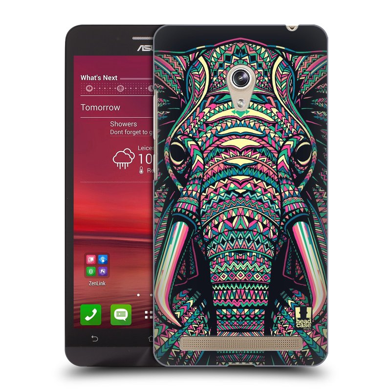 Plastové pouzdro na mobil Asus Zenfone 5 HEAD CASE AZTEC SLON (Kryt či obal na mobilní telefon Asus Zenfone 5 A500CG / A501CG)