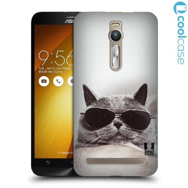 """Plastové pouzdro na mobil Asus ZenFone 2 ZE551ML HEAD CASE KOTĚ S BRÝLEMI (Kryt či obal na mobilní telefon Asus ZenFone 2 ZE551ML / ZE550ML s 5,5 """" displejem)"""