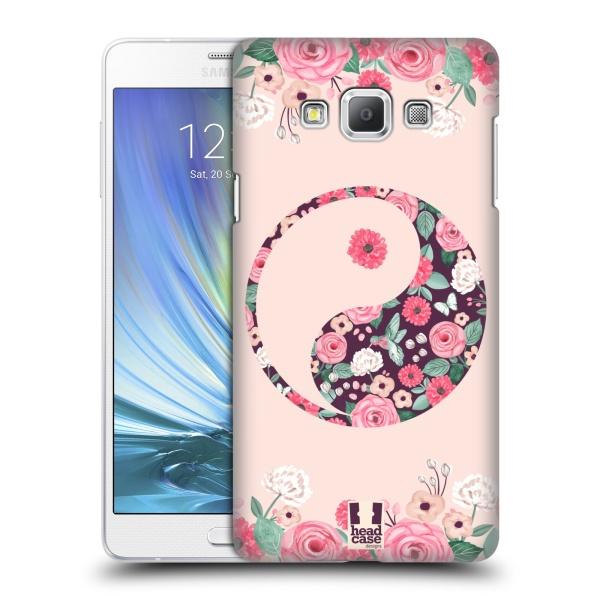 Plastové pouzdro na mobil Samsung Galaxy A7 HEAD CASE YING A YANG FLORAL (Kryt či obal na mobilní telefon Samsung Galaxy A7 A700)