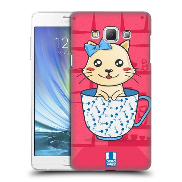 Plastové pouzdro na mobil Samsung Galaxy A7 HEAD CASE KOTĚ V ŠÁLKU (Kryt či obal na mobilní telefon Samsung Galaxy A7 A700)