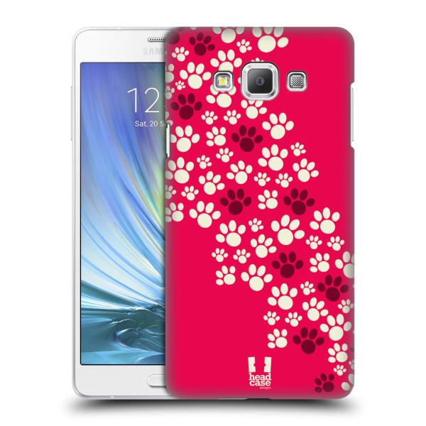 Plastové pouzdro na mobil Samsung Galaxy A7 HEAD CASE TLAPKY RŮŽOVÉ (Kryt či obal na mobilní telefon Samsung Galaxy A7 A700)