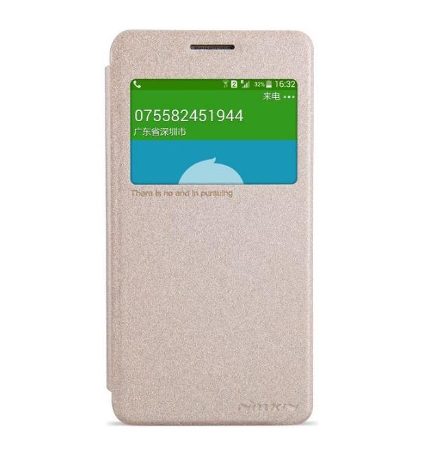 Flipové pouzdro Nillkin Sparkle S-View pro Samsung Galaxy GRAND Prime Zlatavé (Flip vyklápěcí kryt či obal na mobil Samsung Galaxy GRAND Prime)