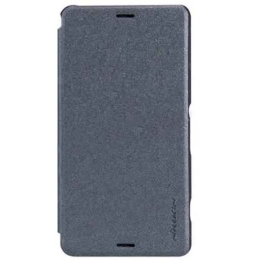 Flipové pouzdro na mobil Nillkin Folio Sony Xperia X Compact černé (Flip vyklápěcí kryt či obal na mobil Sony Xperia X Compact)