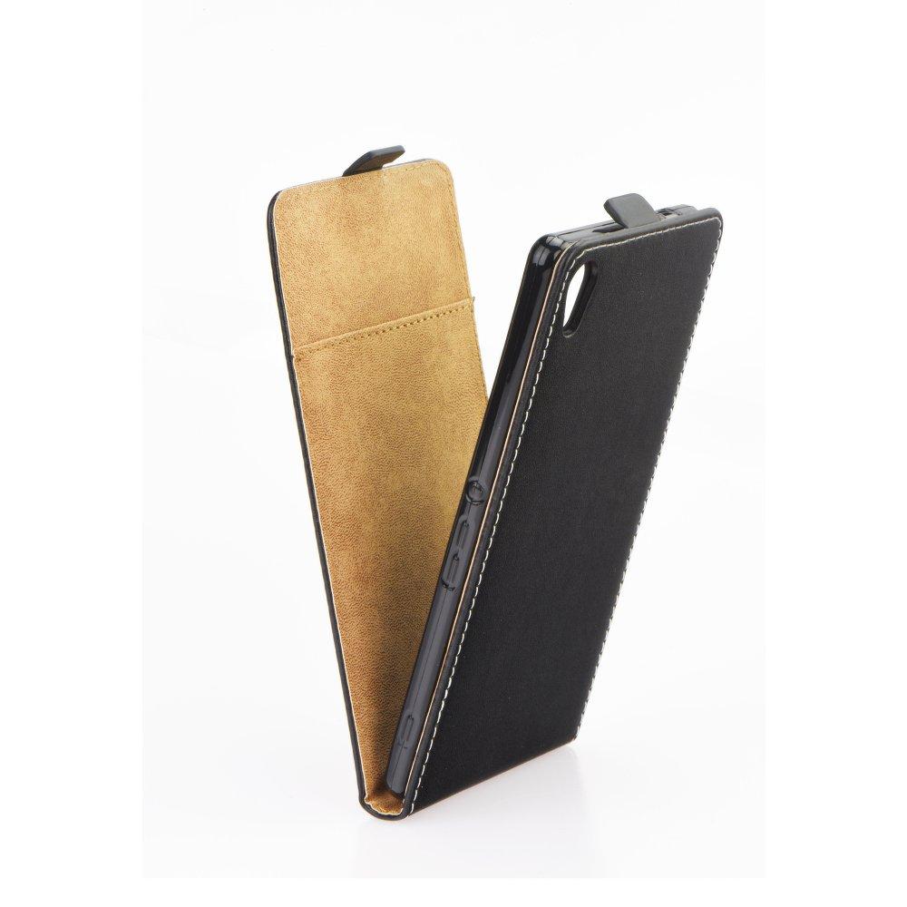 Vertikální flipové pouzdro FLEXI FRESH pro Sony Xperia XA ULTRA Černé (Flipové vertikální vyklápěcí pouzdro na mobilní telefon Sony Xperia XA ULTRA)