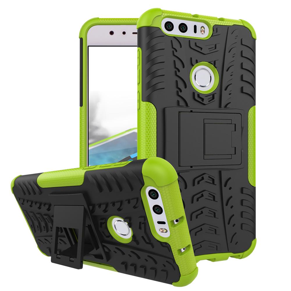 Odolné pouzdro PANZER CASE NEO na mobilní telefon Honor 8 Zelené (Odolný kryt či obal na mobil Huawei Honor 8 se stojánkem)