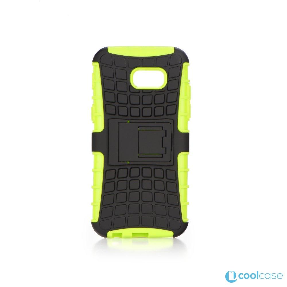 Odolné pouzdro PANZER CASE na mobilní telefon Samsung Galaxy A3 (2017) Zelené