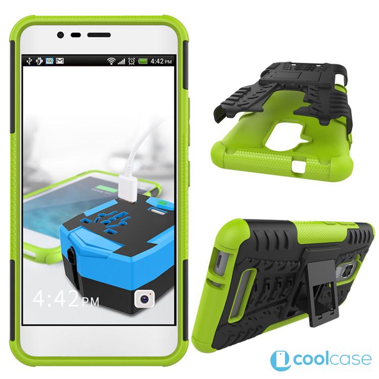 Odolné pouzdro PANZER CASE NEO na mobil Asus Zenfone 3 MAX ZC520TL ZELENÉ (Odolný kryt či obal na mobil Asus Zenfone 3 MAX ZC520TL se stojánkem)