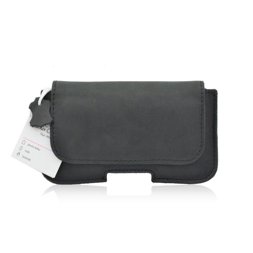 Horizontální pouzdro na pásek, opasek Leather Case Samsung S5610, Nokia 225 (Cool kožené pouzdro na pásek u kalhot a opasek s rozměrem 120 x 50 mm pro Samsung S5610 / S5611 , Nokia 206 / 515 / 225 / 215 / 222 / E52)