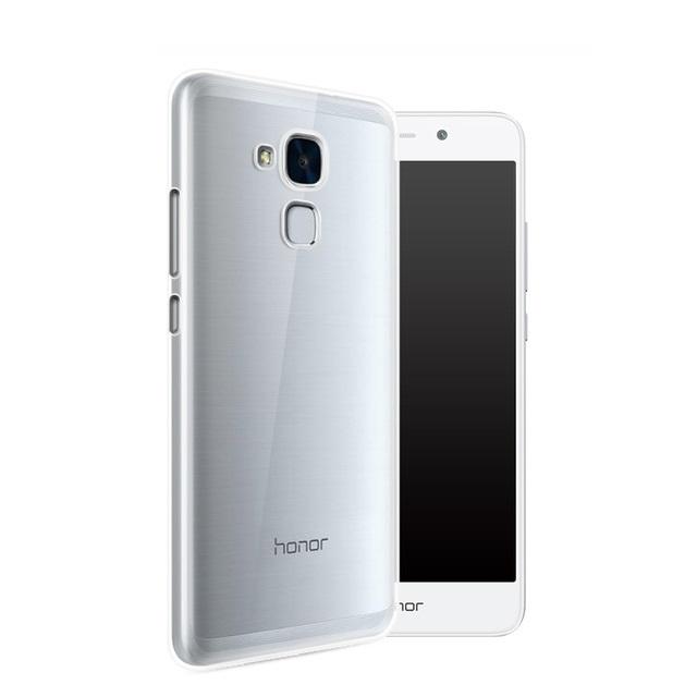Silikonové pouzdro na mobil Ultra Thin 0,3 mm na mobil Honor 7 Lite ČIRÉ (Silikonový kryt či obal na mobilní telefon v průhledném provedení Huawei Honor 7 Lite)