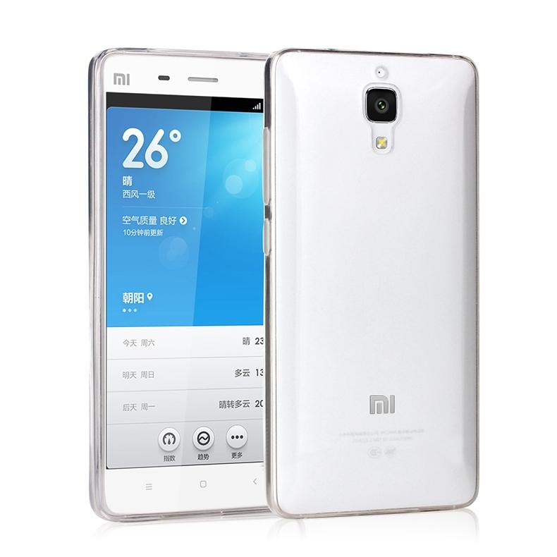 Silikonové pouzdro na mobil Xiaomi Mi4 Ultra Thin 0,3 mm Čiré průhledné (Silikonový kryt či obal na mobilní telefon v průhledném provedení Xiaomi Mi4)