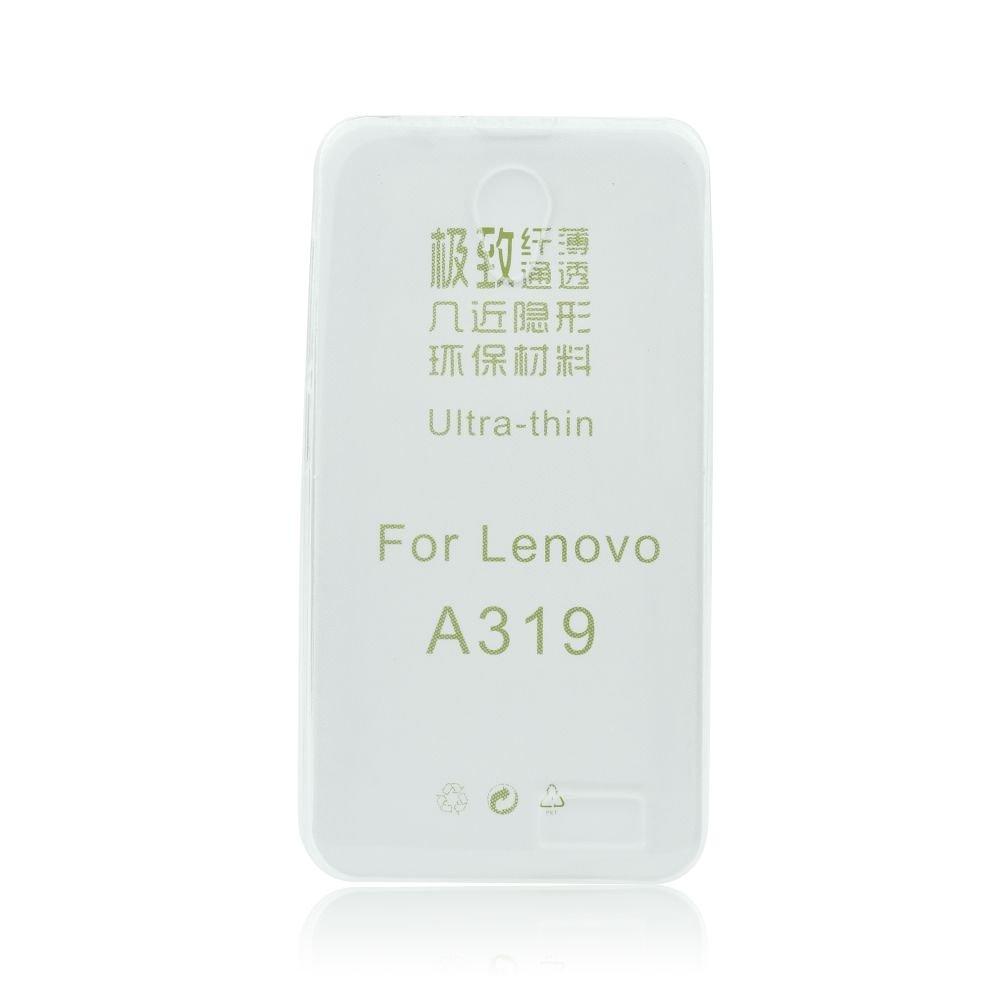 Silikonové pouzdro na mobil Lenovo A319 Ultra Thin 0,3 mm Čiré průhledné (Silikonový kryt či obal na mobilní telefon v průhledném provedení Lenovo A319)