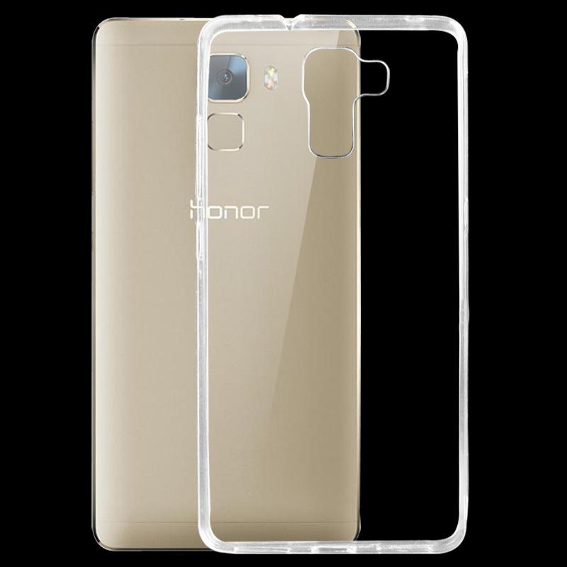 Silikonové pouzdro na mobil Honor 7 Ultra Thin 0,3 mm Čiré (Silikonový kryt či obal na mobilní telefon v průhledném provedení Huawei Honor 7)