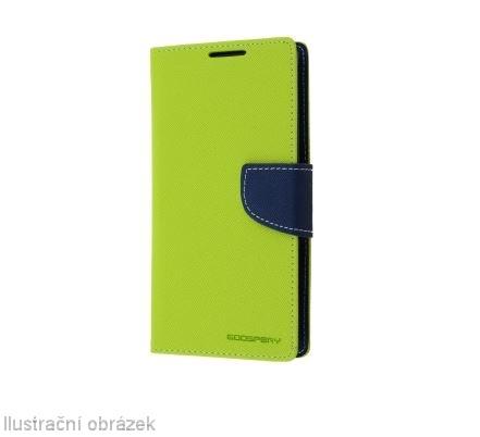 Flipové pouzdro na mobil FANCY BOOK SONY XPERIA M5 Zelené (Flipové knížkové vyklápěcí pouzdro na mobilní telefon Sony Xperia M5)
