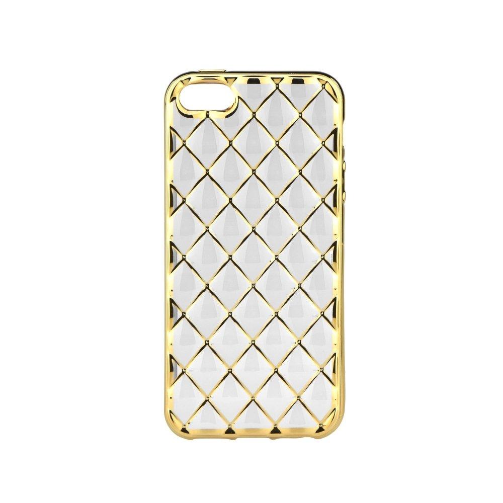 Silikonové pouzdro na mobil Apple iPhone 5, 5S a SE LUXURY Clear Gold (Silikonový kryt či obal na mobilní telefon Apple iPhone 5, 5S a SE)