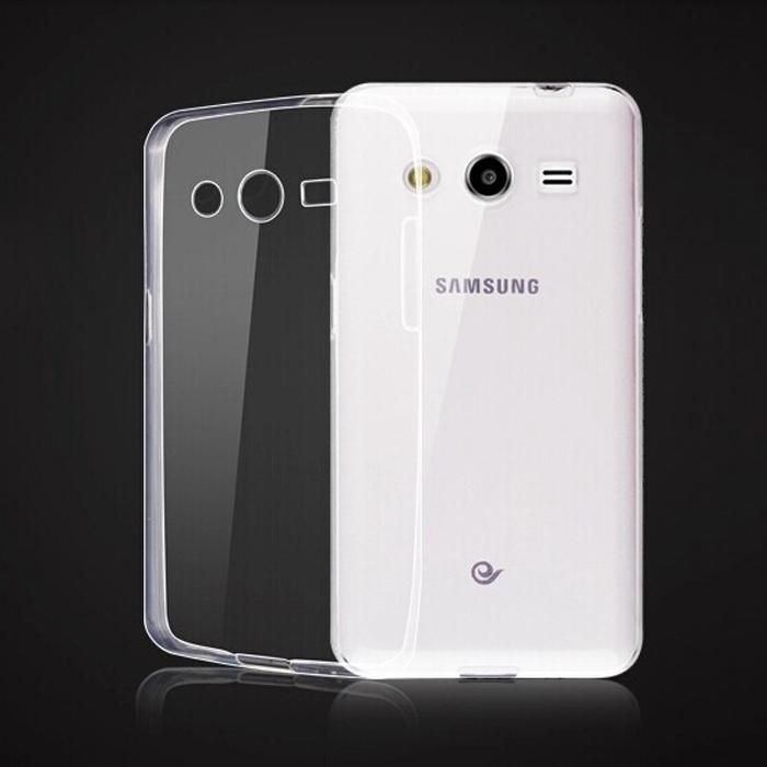 Silikonové pouzdro Ultra Thin 0,5 mm na mobil Samsung Galaxy Core 2 Čiré (Silikonový kryt či obal na mobilní telefon v průhledném provedení Samsung Galaxy Core 2)