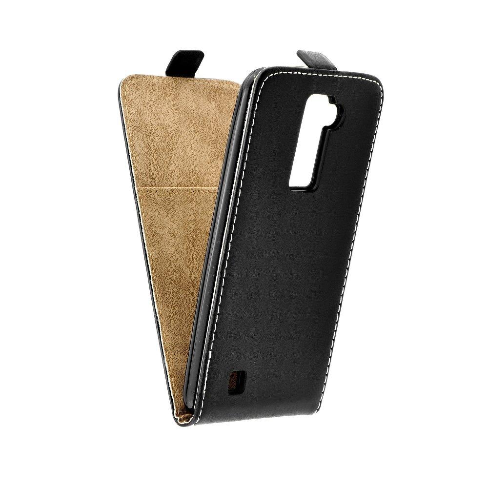 Vertikální flipové pouzdro FLEXI FRESH pro LG Stylus 2 Černé (Flipové vertikální vyklápěcí pouzdro na mobilní telefon LG STYLUS II)