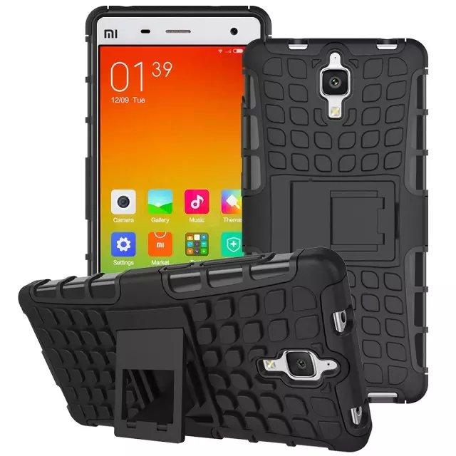 Odolné pouzdro PANZER CASE na mobilní telefon Xiaomi Mi4 Černé (Odolný kryt či obal na mobil Xiaomi Mi4 se stojánkem)