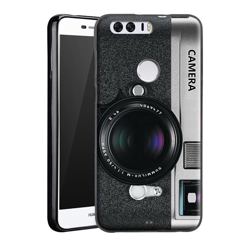Silikonové pouzdro SOFT SILICON na mobil Honor 8 - Foťák (Silikonový kryt či obal na mobilní telefon v průhledném provedení Huawei Honor 8)