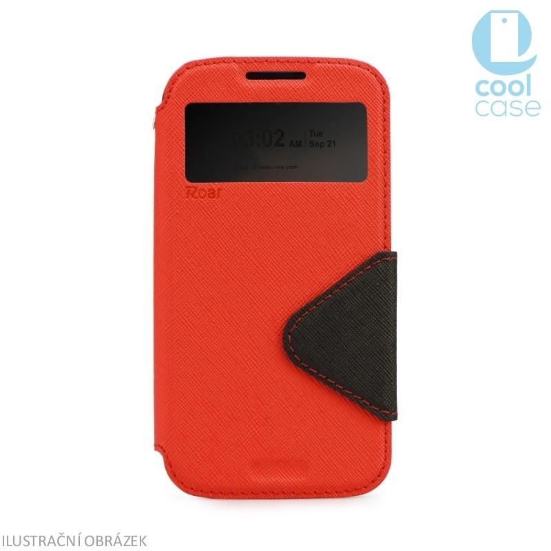 Flipové pouzdro s okénkem ROAR VIEW na mobil Samsung Galaxy S5 Mini Červené (Flip knížkový kryt či obal na mobil Samsung Galaxy S5 MINI s okénkem)