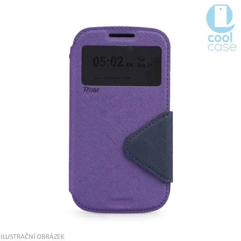 Flipové pouzdro s okénkem ROAR VIEW na mobil Sony Xperia Z1 Fialové (Flip knížkový kryt či obal na mobil Sony Xperia Z1 s okénkem)