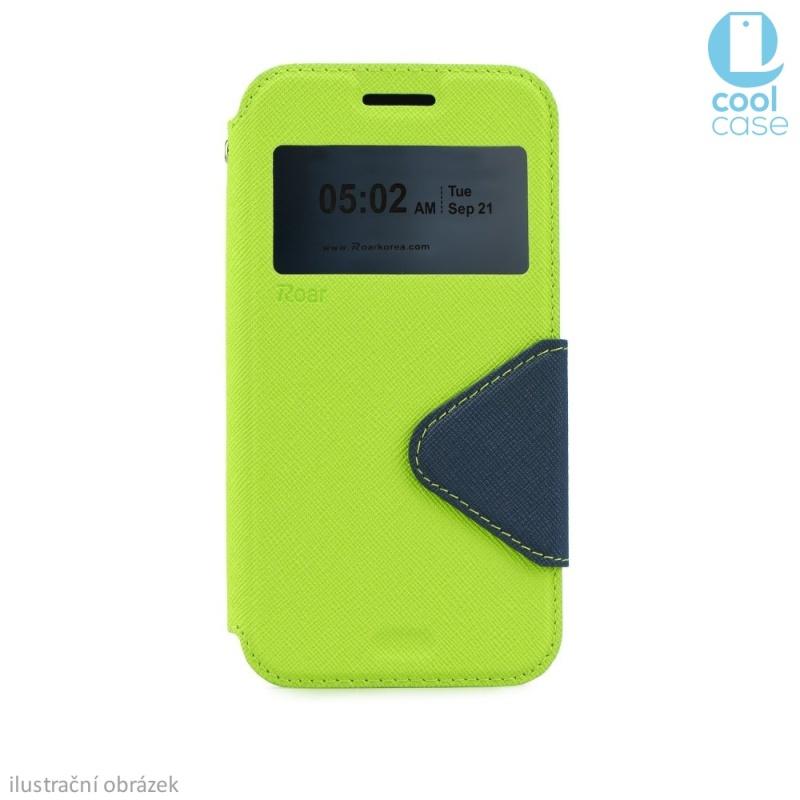 Flipové pouzdro s okénkem ROAR VIEW na mobil Sony Xperia M4 AQUA Zelené (Flip knížkový kryt či obal na mobil Sony Xperia M4 AQUA s okénkem)