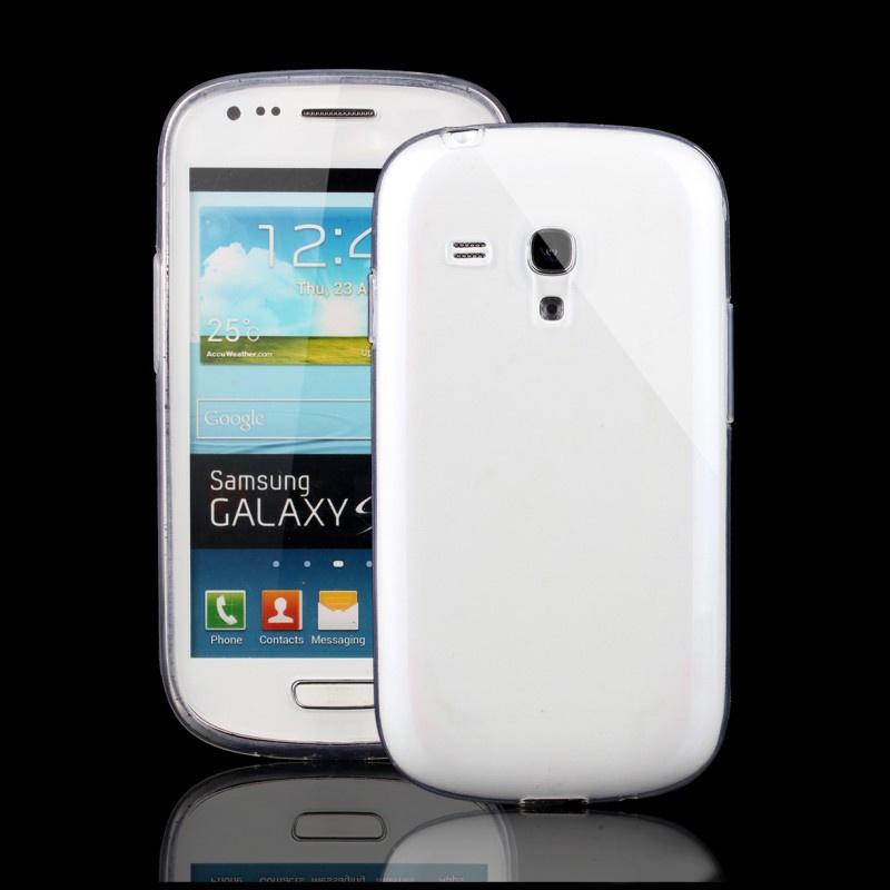 Silikonové pouzdro Ultra Thin 0,3 mm na mobil Samsung Galaxy S III Mini Čiré (Silikonový kryt či obal na mobilní telefon v průhledném provedení Samsung Galaxy S III Mini GT-i8190)