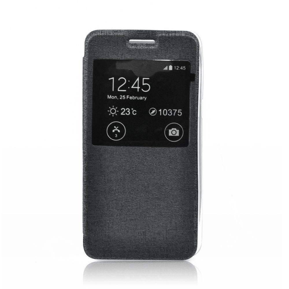Flipové pouzdro na mobil s okénkem S-View Flexi Nokia Lumia 930 Černé (Flipové knížkové vyklápěcí pouzdro s okénkem na mobilní telefon Nokia Lumia 930)