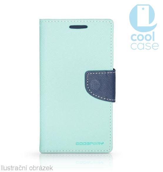 Flipové pouzdro na mobil FANCY BOOK HTC One A9s Azurové (Flipové knížkové vyklápěcí pouzdro na mobilní telefon HTC ONE A9s)